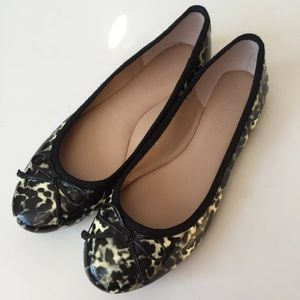 Banana Republic Sz 8 tortoise ballet flats shoes